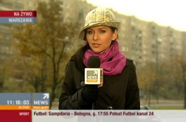 Paulina Sykut jako pogodynka | Foto: tvpolsat.info
