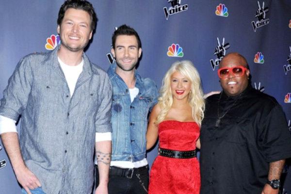 Jurorzy programu The Voice: Blake Shelton, Adam Levine, Christina Aguilera i Cee Lo Green | fot. NBC