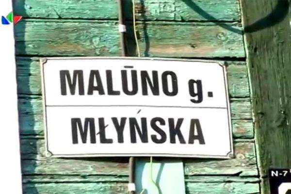 Zerwanie tablicy z polską nazwą ulicy w litewskim reality show wywołało oburzenie   fot. LNK