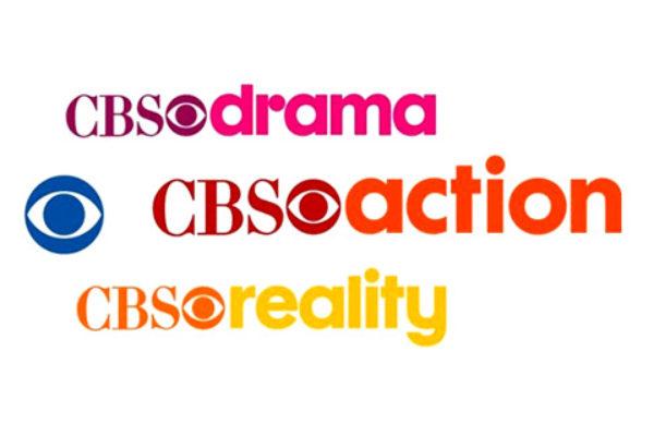 Logotypy kanałów CBS Drama, CBS Action i CBS Reality