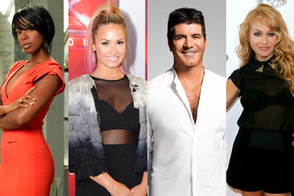 Jury trzeciej edycji amerykańskiego The X Factor   fot. Bravo, FOX, Getty