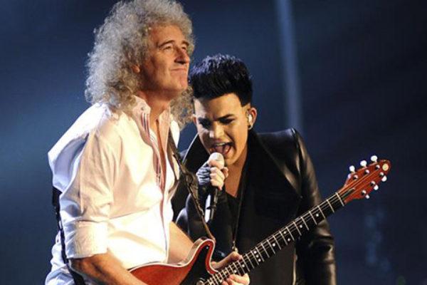 Brian May z Adamem Lambertem   fot. Ian Gavan