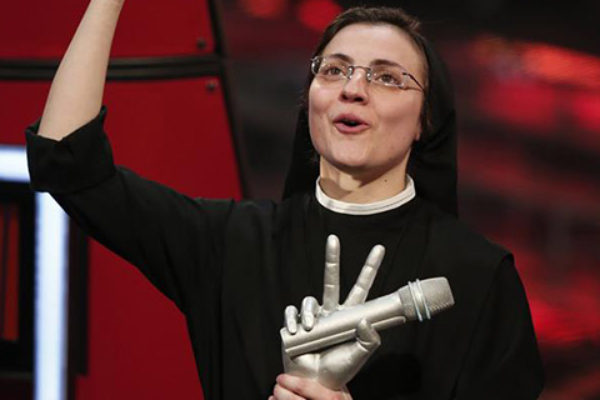 Siostra Cristina Scuccia wygrała The Voice of Italy | fot. AFP