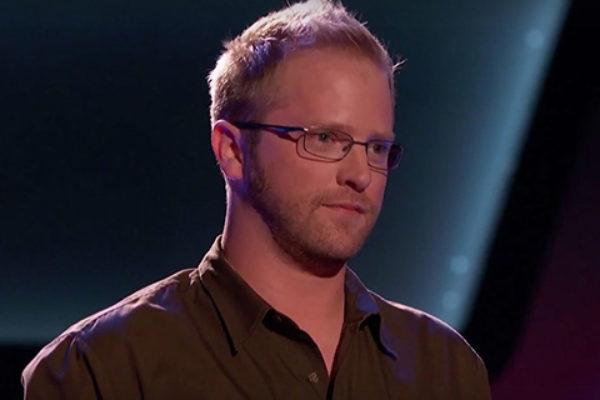 "Joshua Murley w programie ""The Voice"" | fot. NBC"