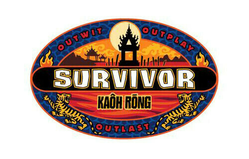 """Logo programu """"Survivor 32: Kaôh Rōng, Brawn vs Brains vs Beauty"""""""