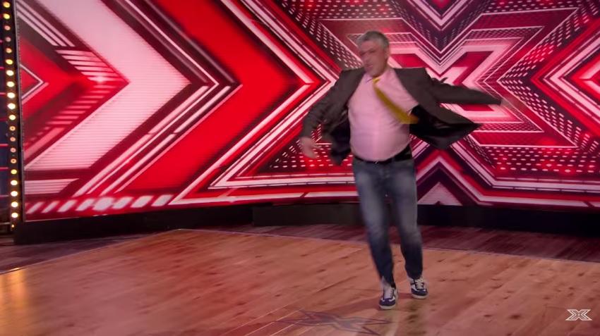 """Zbigniew Bialczak w programie """"The X Factor""""   fot. ITV"""