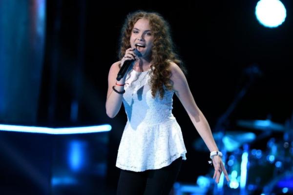 "Agata Buczkowska w ""The Voice of Poland 7""   fot. TVP"