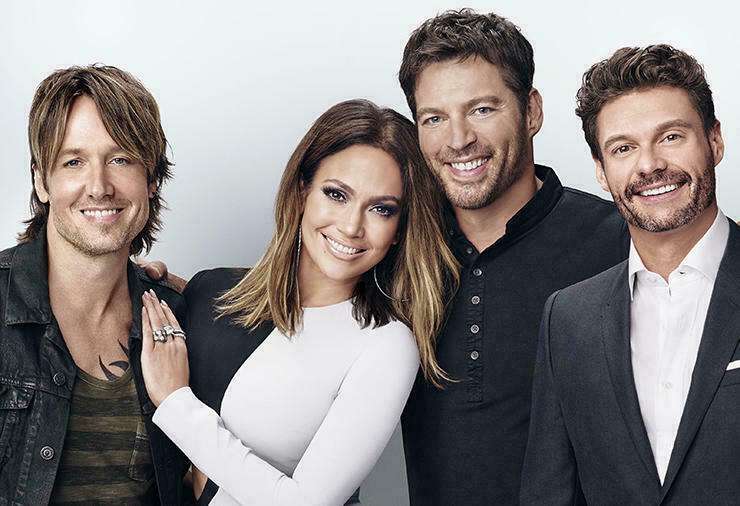 "Keith Urban, Jennifer Lopez, Harry Connick Junior i Ryan Seacrest - jurorzy ""American Idol"" 