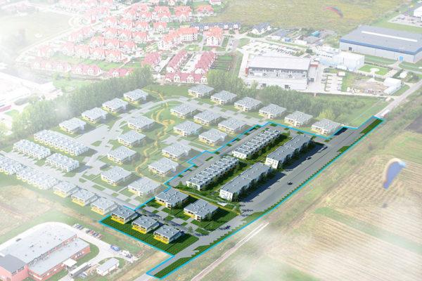 Plan kompleksu mieszkalnego, który stanie na miejscu Domu Wielkiego Brata w Bielanach Wrocławskich | fot. ATM Inwestycje